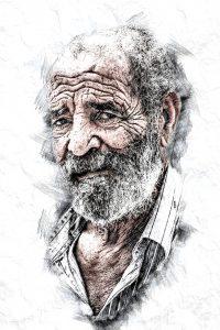 Alter Mann Portrait