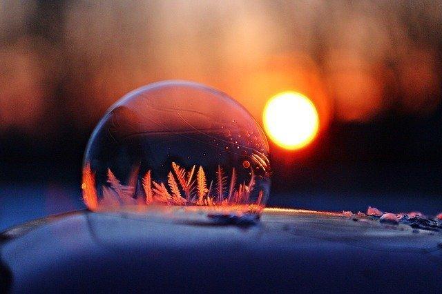 Eis-Seifenblase